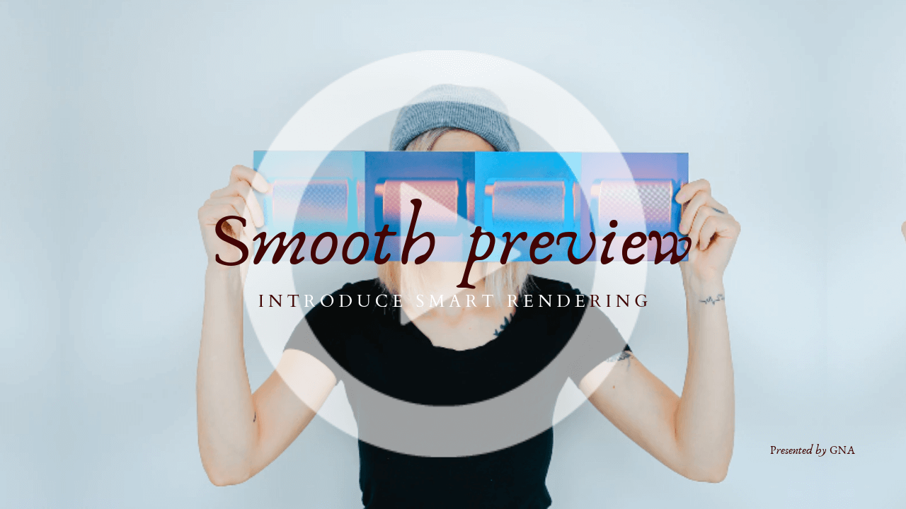 Smooth preview_プレビューでカクつく_ノイズ_対策_スマートレンダリング_パワーディレクター_操作方法