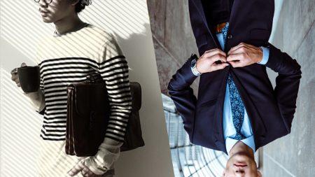 商用利用と個人利用をイメージしたビジネスマンと私服の男性の画像