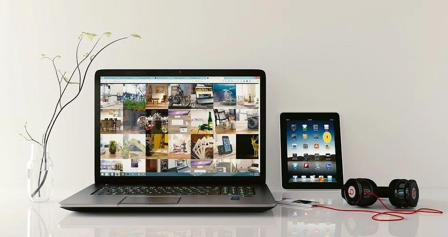 ノートパソコンとタブレットの併用