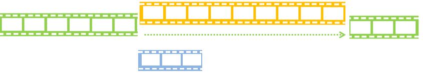 パワーディレクター_タイムライン_クリップを重ねた時の指示_挿入_イメージ