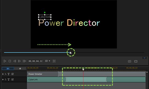 パワーディレクター_タイトルクリップ_所要時間の設定_デザイナー_デフォルト_インターフェース_クリップが見えない時の対処法
