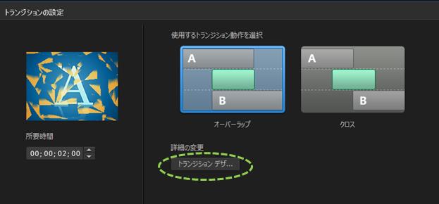 パワーディレクター_トランジション_操作方法_合成_トランジションデザインへの入り口
