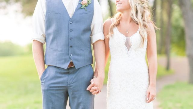 結婚式当日のカップル